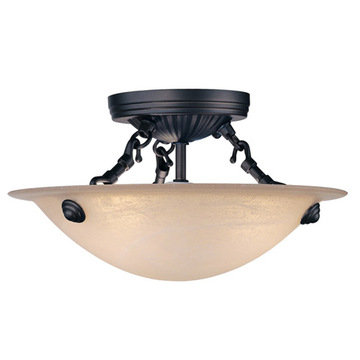 Livex Lighting Home Basics Bronze Semi Flush Ceiling Light