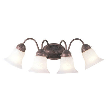 Livex Lighting Home Basics Curved 4 Light Vanity Light