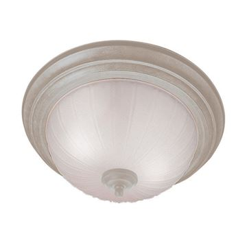 Livex Lighting Home Basics Flush Ceiling Light With Frosted Melon Glass