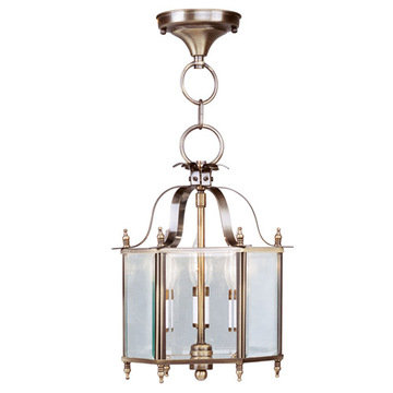 Livex Lighting Home Basics Hexagonal Convertible Chain Or Ceiling Mount Light
