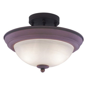 Livex Lighting Home Basics Semi Flush Ceiling Light