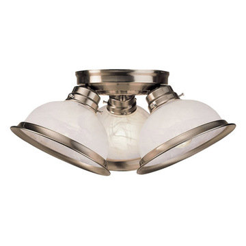 Livex Lighting Home Basics Triple Shade Ceiling Light