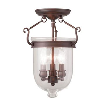 Livex Lighting Jefferson 14 Ceiling Mount Light With Clear Glass