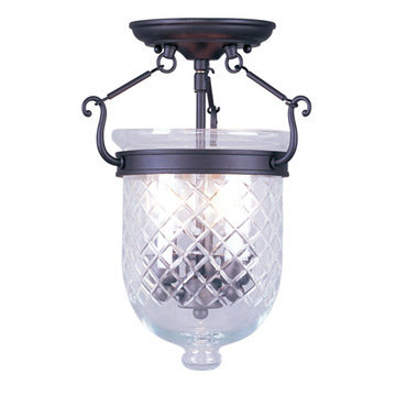 Livex Lighting Jefferson 14 Ceiling Mount Light With Diamond Glass