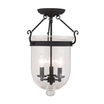 Livex Lighting Jefferson 17 Ceiling Mount Light With Clear Glass