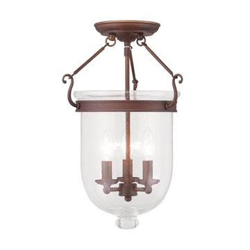 Livex Lighting Jefferson 17 Ceiling Mount Light With Seeded Glass