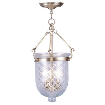 Livex Lighting Jefferson 20 Ceiling Mount Light With Diamond Glass