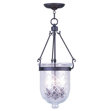 Livex Lighting Jefferson 25 Ceiling Mount Light With Diamond Glass