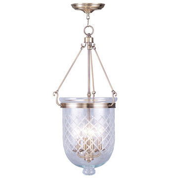 Livex Lighting Jefferson 30 Ceiling Mount Light With Diamond Glass