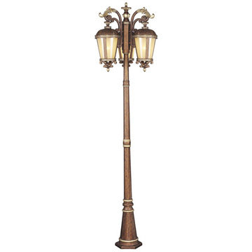 Livex Lighting Seville Outdoor 3-Head Light Post