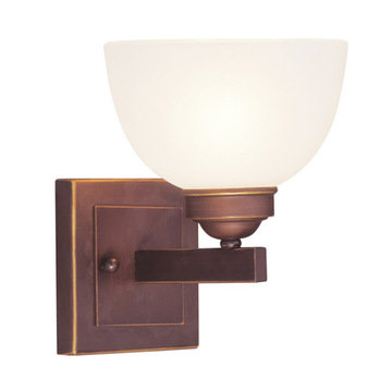 Livex Lighting Somerset 1 Light Vanity Light With Square Back Plate