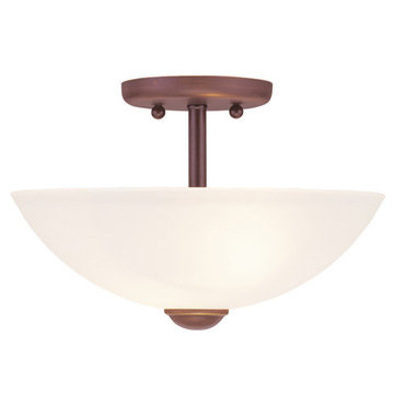 Livex Lighting Somerset 2 Light Semi Flush Ceiling Light