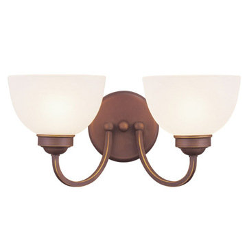 Livex Lighting Somerset 2 Light Vanity Light With Round Back Plate