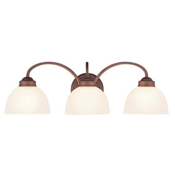 Livex Lighting Somerset 3 Light Vanity Light With Round Back Plate