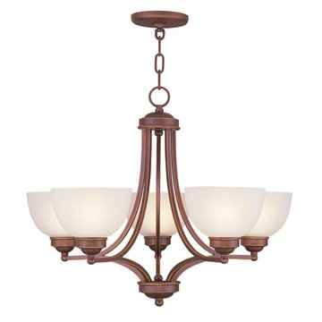 Livex Lighting Somerset 5 Up Light Chandelier