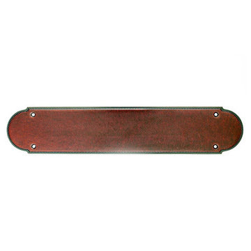 Top Knobs Beaded 15 Inch Push Plate
