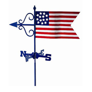 Good Directions Americana Flag Cottage Or Garden Weathervane