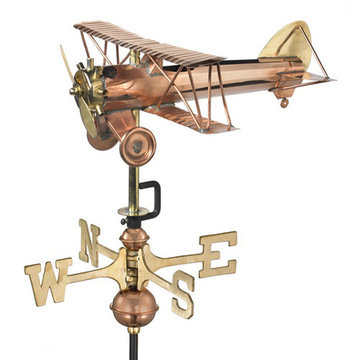 Good Directions Biplane Cottage Or Garden Weathervane