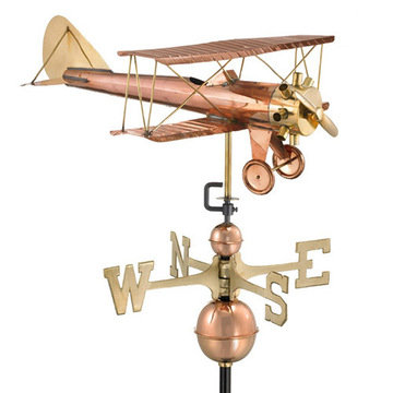Good Directions Biplane Full Size Standard Weathervane