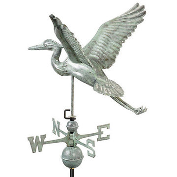 Good Directions Blue Heron Full Size Standard Weathervane