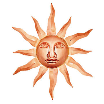 Good Directions Copper Sun Face Wall D?cor