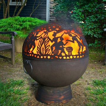 Good Directions Fire Bowl With Full Moon Party Dome