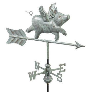 Good Directions Flying Pig Cottage Or Garden Weathervane
