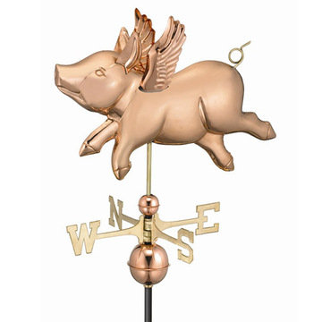 Good Directions Flying Pig Full Size Standard Weathervane