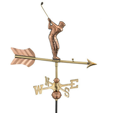 Good Directions Golfer Cottage Or Garden Weathervane - Pre Swing