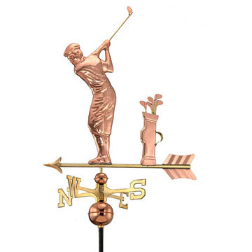 Good Directions Golfer Full Size Standard Weathervane