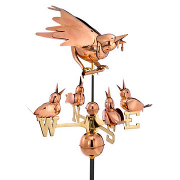 Good Directions Mother Bird And Chicks Full Size Standard Weathervane
