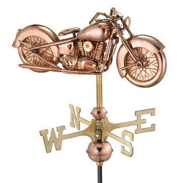 Good Directions Motorcycle Cottage Or Garden Weathervane