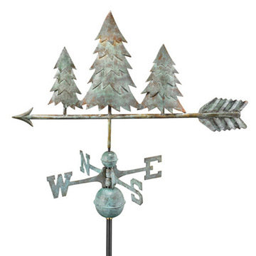 Good Directions Pine Trees Full Size Standard Weathervane