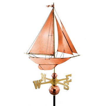 Good Directions Racing Sloop Full Size Standard Weathervane