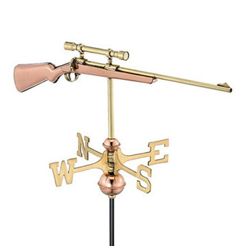 Good Directions Rifle With Scope Cottage Or Garden Weathervane
