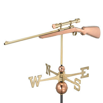 Good Directions Rifle With Scope Full Size Standard Weathervane