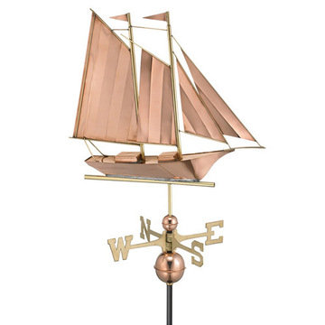 Good Directions Schooner Full Size Standard Weathervane