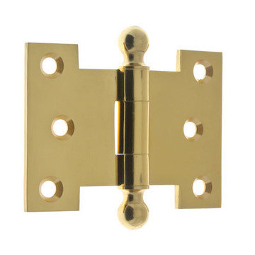 Idh By St. Simons 2 1/2 Inch X 3 1/2 Inch Parliament Hinge With Ball Finials