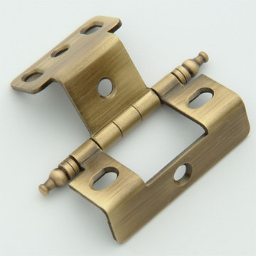 Classic Brass 3/4 Inch Full Wrap Hinge-Minarette Finial - 3 1/2 Inch