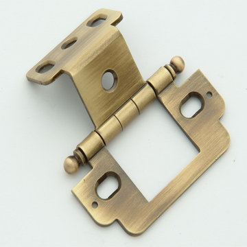 Classic Brass 3/4 Inch Inset Partial Wrap Hinge-Ball Finial - 2 1/2 Inch