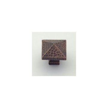 Classic Brass Arts And Crafts Pyramid Knob