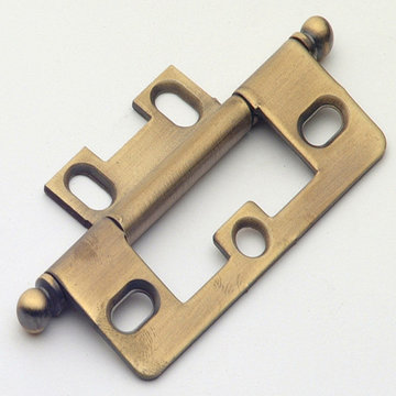 Classic Brass Ball Finial Non-Mortise Hinge - 3 1/8 Inch