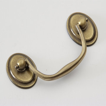 Classic Brass Classic Collection Bail Pull With Oval Rosettes