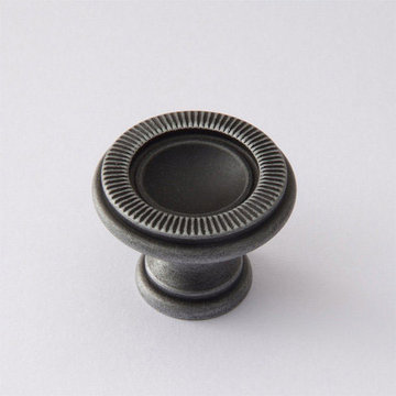 Classic Brass Classic Collection Knob With Ribbed Edge