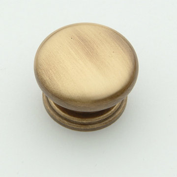 Classic Brass Classic Collection Mushroom Knob With Ringed Base