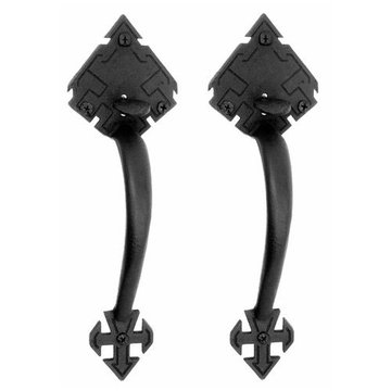 Acorn Adobe Double Handle Drop Latch Set