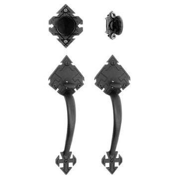 Acorn Adobe Mortise Entrance Lock Set With Double Handles