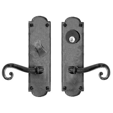 Acorn Arched Mortise Lock Entrance Door Set With Scroll Levers