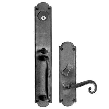 Acorn Arched Mortise Lock Handle To Lever Entrance Door Set