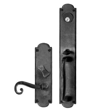 Acorn Arched Mortise Lock Handle To Lever Entrance Dummy Door Set